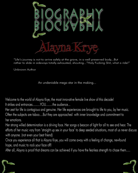 Alayna Krye Music Biography